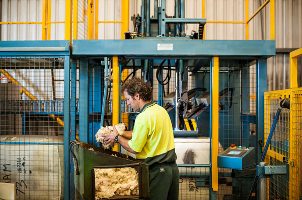 Wool handling facilities at Jemalong Wool Forbes