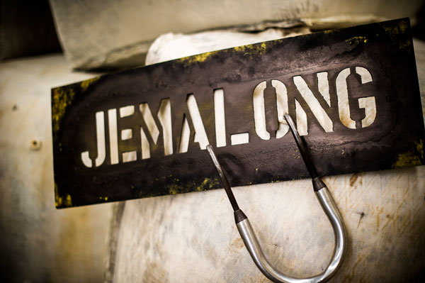 Jemalong Wool branded bales of wool